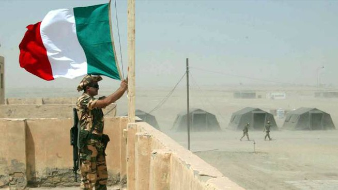 NASSIRYA - CRO - IRAQ: SOLDATI ITALIANI NELLA FORNACE DI NASSIRYA