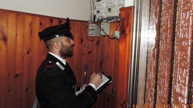 I carabinieri hanno scoperto un furto di energia elettrica (foto d'archivio)