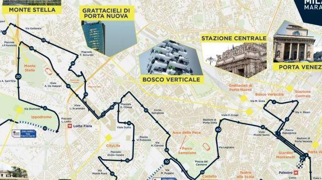 Il percorso della Milano Marathon 2016