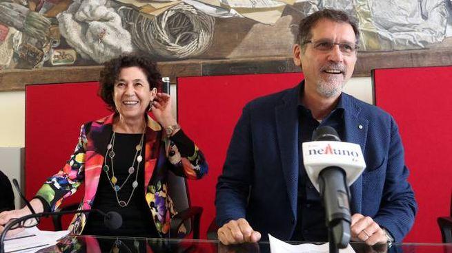 Da sinistra, la vicesindaco Silvia Giannini e il sindaco Virginio Merola (FotoSchicchi)