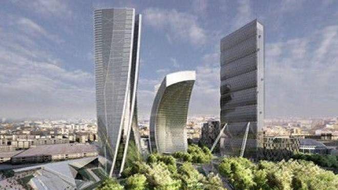 """A sinistra nel rendering lo """"Storto"""" ideato dal grande architetto Zaha Hadid"""