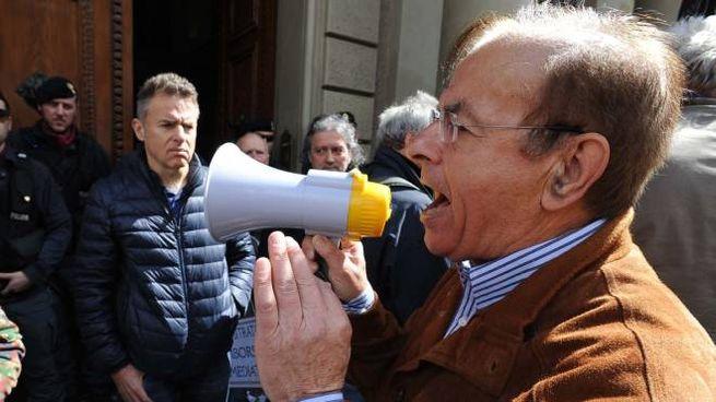 Manifestazione di protesta. Risparmiatori di banca Etruria Arezzo
