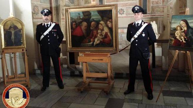 Uno dei dipinti trafugati nel 1944 dai nazisti (Ansa)
