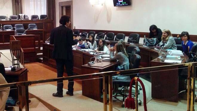 Visita degli studenti al Consiglio Regionale