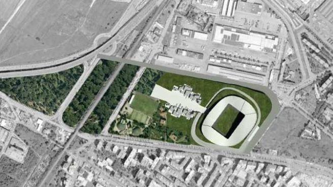 Il progetto del nuovo stadio nell'area Mercafir