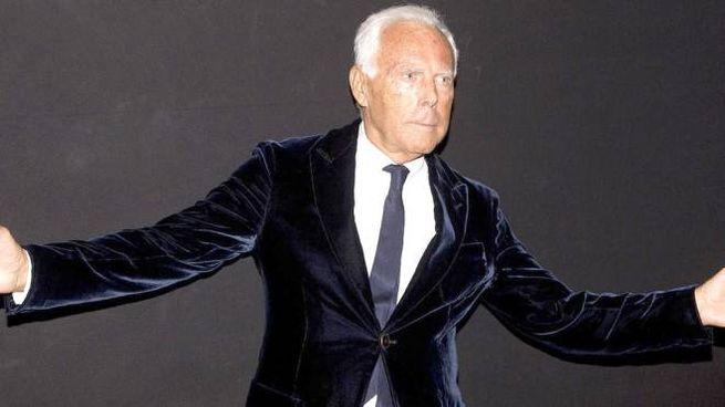 Lo stilista Giorgio Armani
