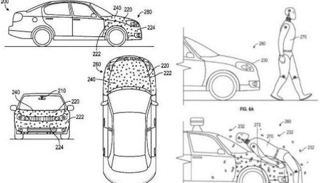 Il brevetto di Google incolla-pedoni
