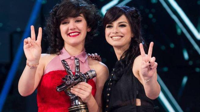 Alice Paba e Dolcenera esultano per la vittoria a The Voice (Olycom)