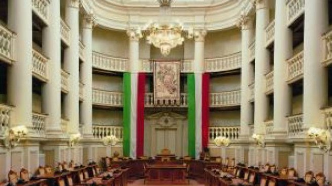La sala del tricolore a Reggio Emilia