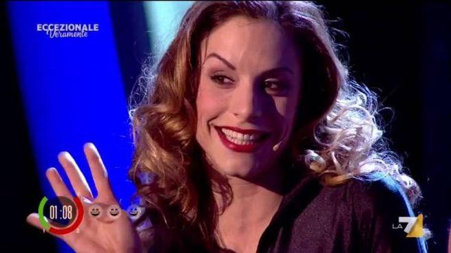Valentina Ghetti nei panni della Valery a 'Eccezionale Veramente'