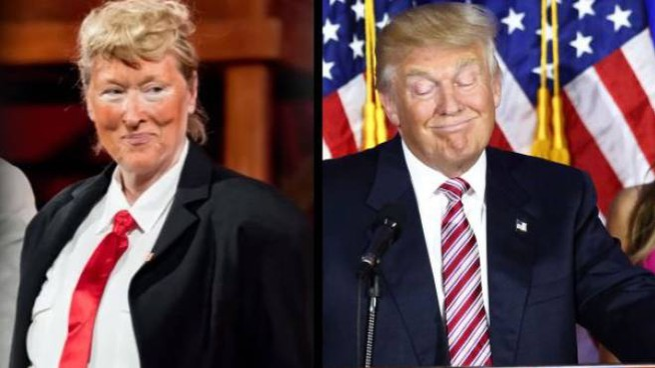 Meryl Streep imita Donald Trump