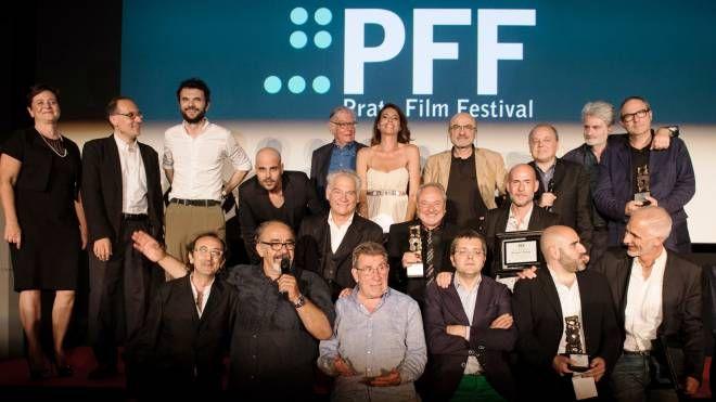 Foto di gruppo per il Prato film festival