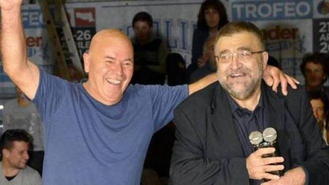 Il presidente degli Angels, Maurizio Fabbri (a destra), insieme al dirigente Palmiro Fornari