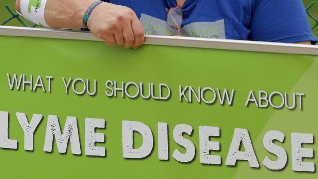 Proteste a Washington per la malattia di Lyme (Afp)