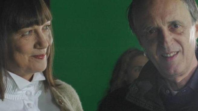 Daria Nicolodi con Dario Argento
