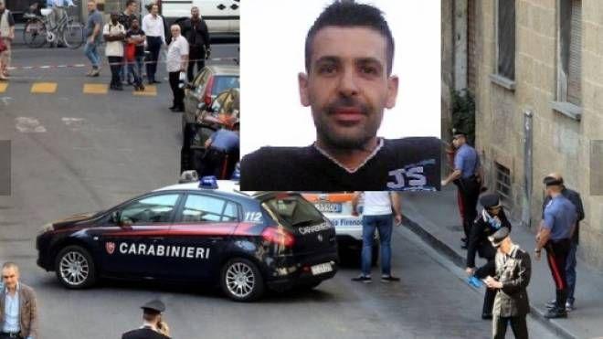 Omicidio in via Fiume, nella foto piccola Mirco Alessi fermato a Siena