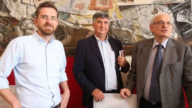 Matteo Lepore, Celso De Scrilli e Giorgio Tabellini presentano il primo anno di Bologna Welcome (Fotoschicchi)