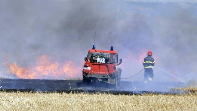 Incendio a Principina a Mare (Foto Aprili)