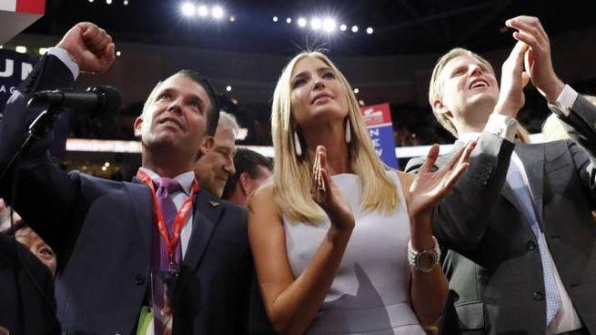 I figli di Trump Donald jr, Ivanka ed Eric (Ansa)