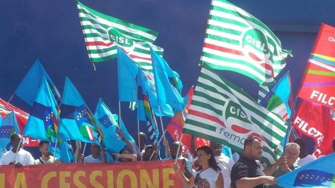 La protesta di Azimut Benetti (Foto archivio)