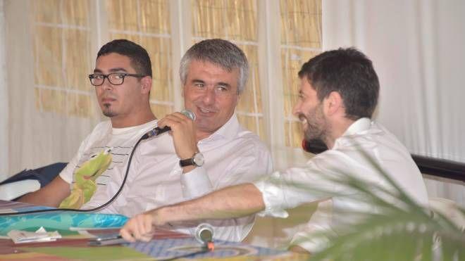 Roberto Speranza intervistato dal direttore De Robertis (foto Novi)