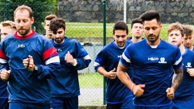 I giocatori del Sondrio hanno cominciato la preparazione alla Castellina (National Press)