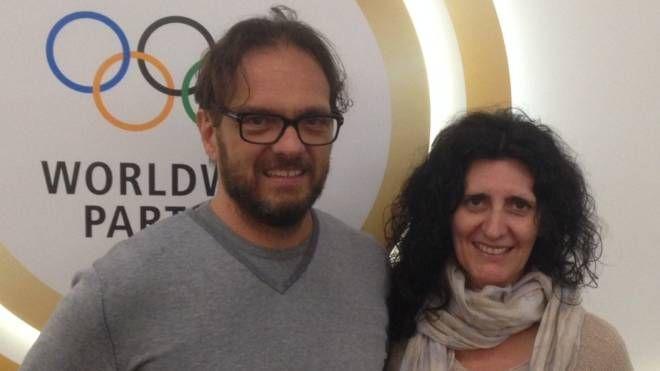 Luca e Lorena Paltrinieri, genitori di Gregorio (Foto Trebbi)