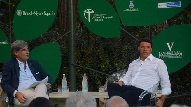 Il premier Matteo Renzi alla Versiliana (foto Umicini)