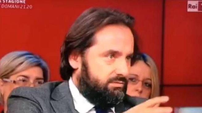 Il medico legale Francesco Nobili, durante una  trasmissione televisiva su un caso di malasanità