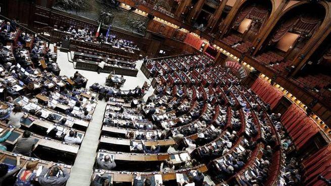 L'Aula della Camera (ANSA / GIUSEPPE LAMI)