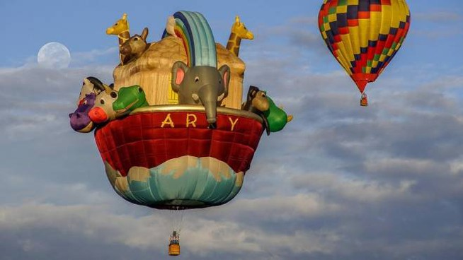 Una delle mongolfiere attese a Ferrara
