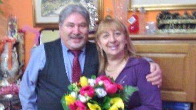 Gianna Del Gaudio ritratta con il marito Antonio Tizzani:   una  coppia  che solo  in apparenza  sarebbe stata felice