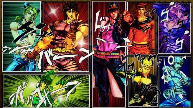 Un wallpaper con i personaggi di JoJo – Foto: Shueisha