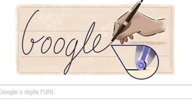 Il doodle di Google per Ladislao José Biro (da google)