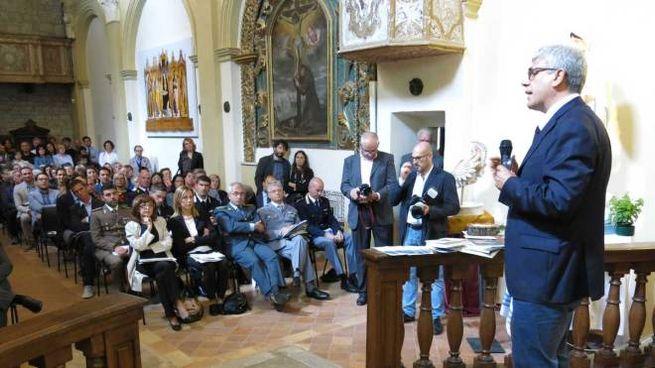 Giuseppe Lupo durante la cerimonia del Frontino-Montefeltro (foto Mancini)