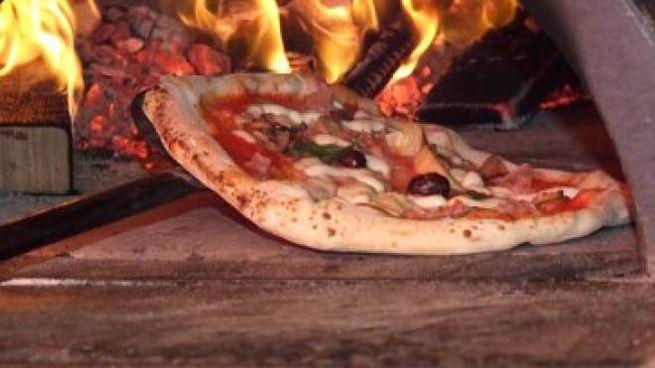 Una pizza