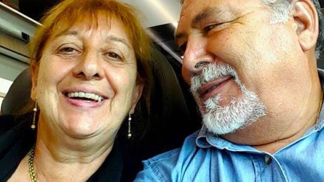 La vittima Gianna del Gaudio con il marito Antonio Tizzani, unico indagato per l'omicidio della moglie (De Pascale)