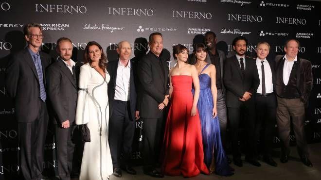 Il cast di Inferno al completo (Mori/New Press Photo)