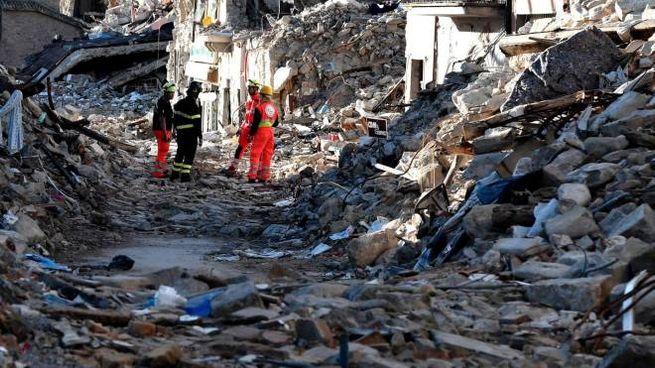 Amatrice dopo il terremoto (Afp)