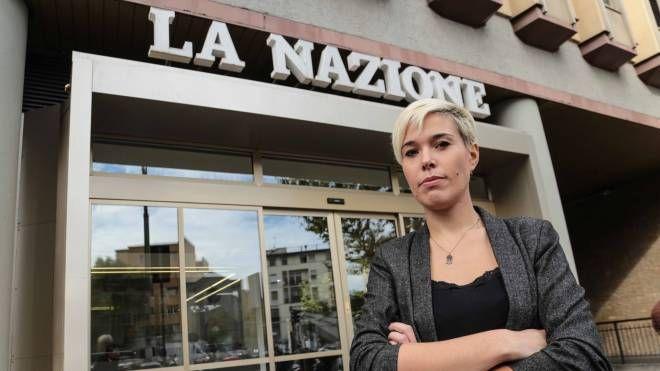 """Giulia Mazzoni in visita alla """"Nazione"""""""