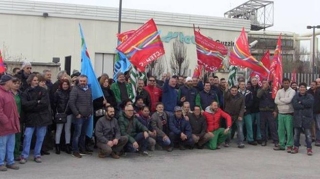 Uno sciopero alla Teuco (foto d'archivio)