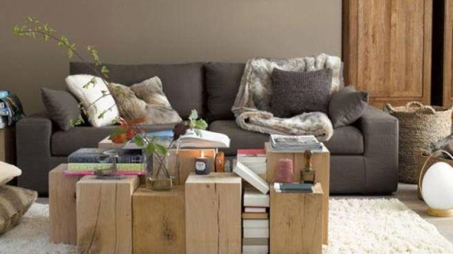 Ceppi e tronchi di legno per arredare casa magazine tempo libero