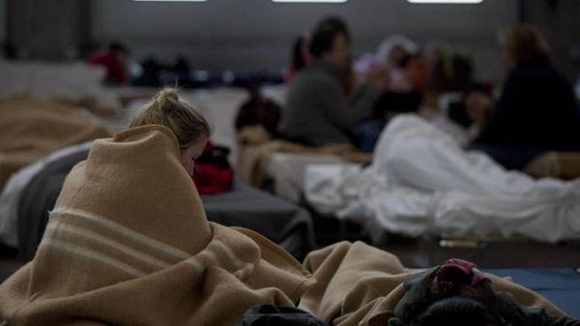 La notte degli sfollati a Camerino (Ansa)