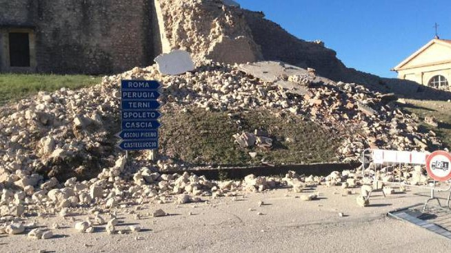 Le zone del terremoto