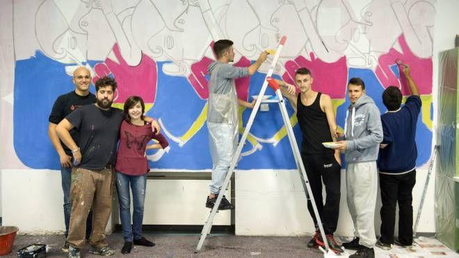Il murales al centro giovani di Cornaredo