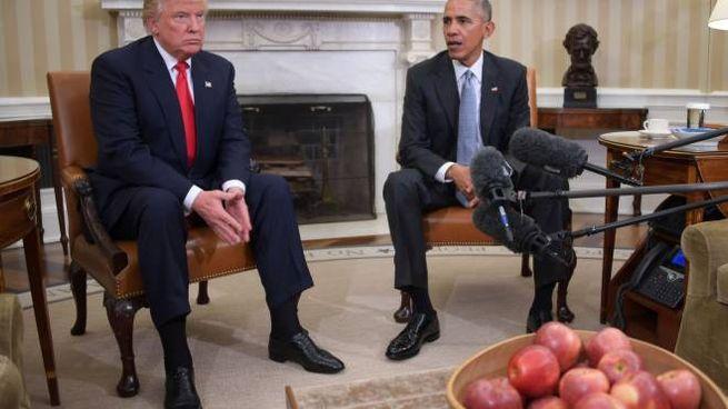 Trump ospite di Obama alla Casa Bianca (Afp)