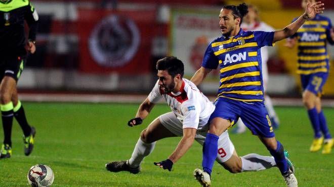 Un'azione di Maceratese-Parma con Matteo Colombi (Calavita)