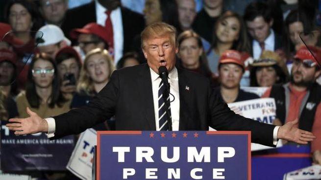Donald Trump durante la campagna elettorale (Ansa)