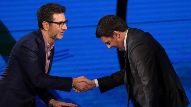 Matteo Renzi e Fabio Fazio (Ansa)