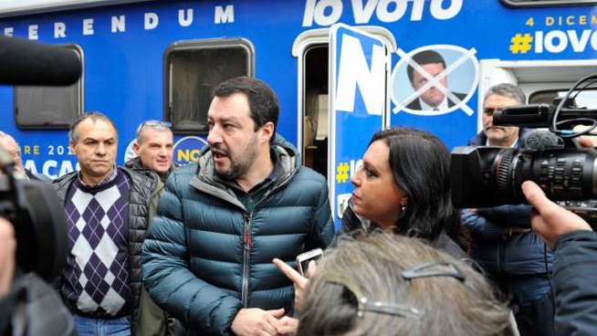 Matteo Salvini a Lucca (foto Alcide)